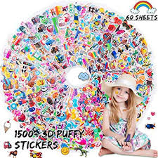 HORIECHALY 60 Different Sheets 3D Puffy Stickers ... - Amazon.com
