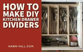 <b>How to Make DIY</b> Kitchen <b>Drawer Dividers</b> | Hawk Hill