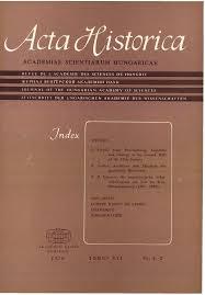 acta historica - a mta történettudományi folyóirata tom. 16 (1970)
