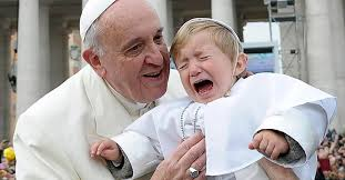 Image result for pope francis kissing children