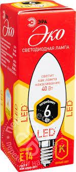 Купить <b>Лампа светодиодная Эра LED</b> B35 E14 6Вт с доставкой ...