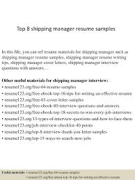 top8shippingmanagerresumesamples 150402080757 conversion gate01 thumbnail 4 jpg cb 1427980135