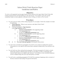 dittmer m witch trials reaction paper guidelines and
