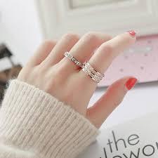 <b>Korean version</b> of the index finger <b>titanium steel</b> ring female ...