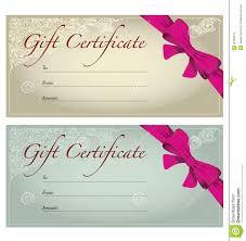 best photos of gift certificate voucher template birthday certificate gift voucher template