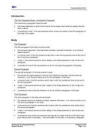 paragraph essays paragraph essay outline persuasive