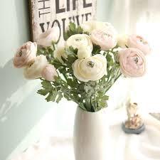 "<b>3Pcs</b>/<b>Lot</b> Bouquet Artificial Ranunculus Flowers 22.8"" Long Real ..."