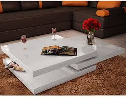 Coffee Table 3 Tiers High Gloss White: Kitchen & Dining - Amazon.com