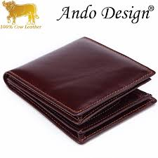 Short Wallet Purse For Men <b>Genuine Cow Leather</b> Retro <b>Fashion</b> ...