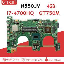 REV2.0 <b>i7 4700HQ</b> For ASUS <b>N550JV</b> Laptop Motherboard REV2.0 ...