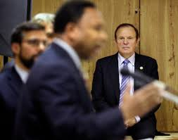 new criticism after new jersey posts text of exxon settlement state senator raymond j lesniak back right during a news conference on tuesday in linden n j credit mel evans associated press