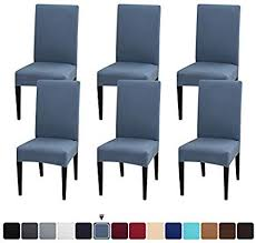 MJL <b>Chair Covers 6</b> Pieces Elastic <b>Stretch</b> Dining Room Chair ...