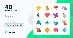 <b>Origami</b> 40 бесплатно иконок (файлы SVG, EPS, PSD, PNG)