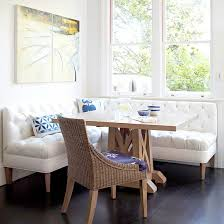 breakfast nooks white tufted upholstered benches create banquette style seating breakfast nook table