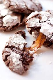<b>Salted Caramel Stuffed Chocolate</b> Crinkle Cookies - Cooking Classy