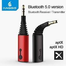 <b>Hagibis</b> Bluetooth Receiver Transmitter 3.5mm Aptx 2in1 Bluetooth ...