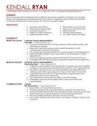 Sample Resume For Customer Service Representative In Retail Example
