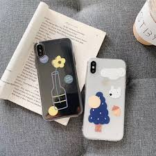 <b>Cute Cartoon</b> Art Drawing Transparent Phone Case