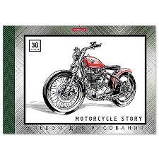 Альбом А4 30л жесткая подложка <b>Erich Krause Motorcycle Story</b> ...