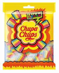 <b>Мармелад Chupa Chups Sour</b> Belts mini Фруктовый вкус 150г