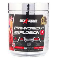 <b>Pre</b>-<b>Workout Explosion</b> 210 г со вкусом <b>фруктового</b> пунша <b>Six Star</b> ...