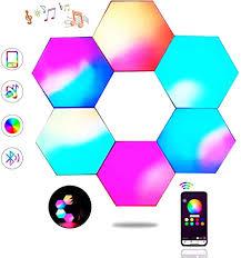 Hexagon Lights,Smart LED Wall Lights APP Control ... - Amazon.com