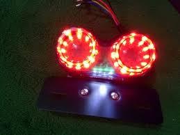 <b>Motorcycle</b> Tail Light, ProGreen <b>12V LED</b> Twin Dual Brake Light ...
