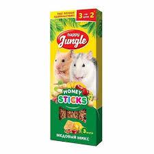<b>Happy Jungle</b>, <b>палочки для</b> мелких грызунов микс 3 вкуса, 3 шт. с ...