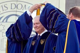 u s department of defense photo essay defense secretary robert m gates receives an honorary degree during the university of notre dame