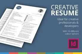 creative r eacute sum eacute template resume templates on creative market