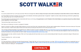 gov walker unable to dial phone to try to save wisconsin yet after doing nothing walker was able late this week to hit send on a fundraising solicitation
