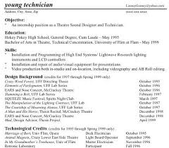 technical theatre resume guidethe rewrite