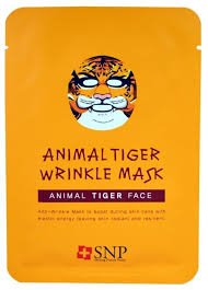 SNP тканевая <b>маска</b> Animal Tiger Wrinkle Mask <b>против морщин</b> ...