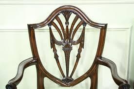 hepplewhite shield dining chairs set: mahogany shield back dining room chairs swag federal dining chairs