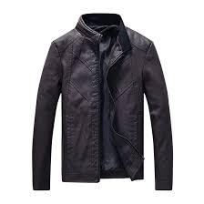 New <b>Mens</b> Leather <b>Jackets</b> Winter Autumn Warm <b>PU</b> Coats <b>Men</b> ...