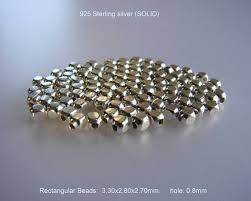 925 Sterling Silver (SOLID) Rectangular Beads Spacer <b>5pcs</b>, <b>10pcs</b> ...