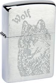"""<b>Зажигалка Zippo</b> """"<b>Classic</b>. <b>Wolf</b>"""", 3,6 х 1,2 х 5,6 см"""