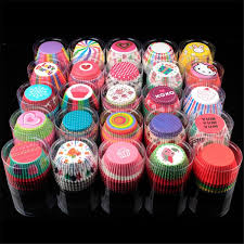 <b>TTLIFE 100pcs</b> lot Muffin Paper Cup Box Cupcake Wrappers Baking ...