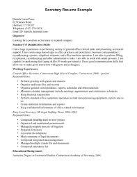 secretarial resume examples resume template info secretary resume 2015 secretarial clerical resumes