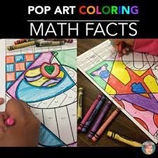 Small Picture Valentines Day Math Review Coloring Sheets by Art with Jenny K TpT