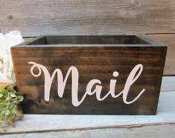 rustic home decor large rustic mail holder rustic office decor wood mail box rustic mail box mail organization coupon holder boxed ice office exterior