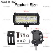 <b>ECAHAYAKU 1pcs</b> 120W Led Light Work Bar 7 polegadas levou bar ...