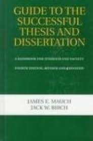 Guide To The Successful Thesis And Dissertation  A     AbeBooks Stock Image