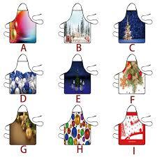 <b>Christmas Decoration</b> Waterproof Kitchen <b>Aprons</b> Dinner <b>Party</b> ...