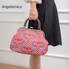 <b>Angelatracy</b> New Green Brocade Handbag Silk Bags for <b>Women</b> ...