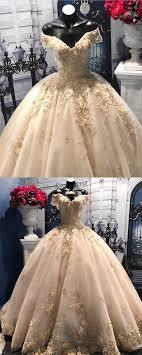 <b>Light Champagne</b> Tulle <b>Ball</b> Gowns Wedding Dresses <b>Lace</b> V-neck ...
