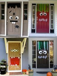 halloween party ideas monster doors charming desk decorating ideas work halloween