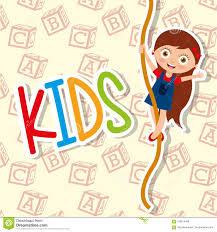 <b>Kids Cute</b> Girl Climbing <b>Rope</b> Funny Stock Vector - Illustration of ...