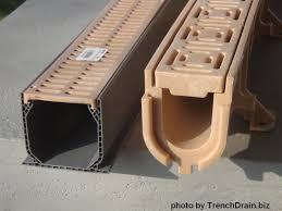 plastic channel drain patio