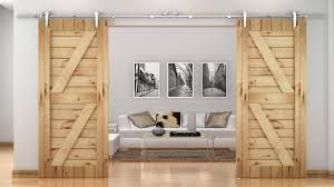 Closet Barn Doors Double Barn Door For Closet Doors Ideas